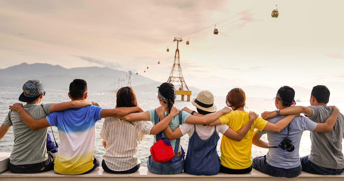 relationship marketing - friends on coast of body of water