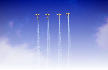 planes in formation - medication synchronization - med sync
