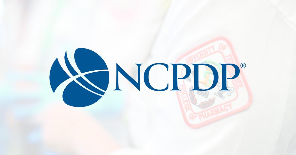 NCPDP logo - UTHSC pharmacy badge