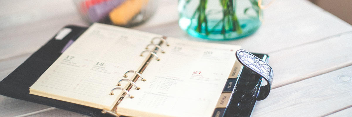 2019 year in review - personal organizer notebook