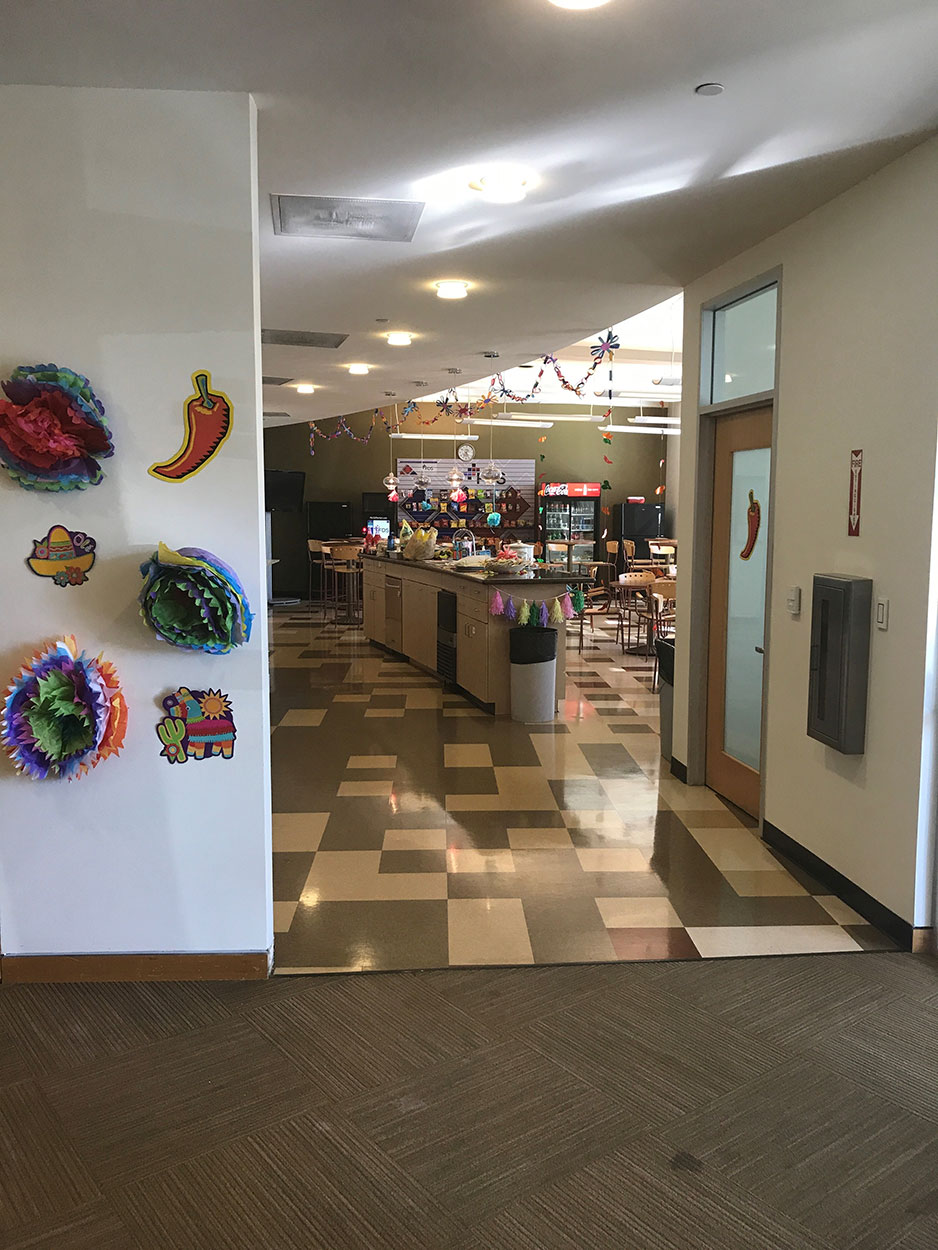 View of employee cafeteria