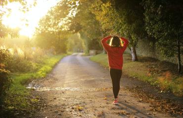 woman walking - diabetes care